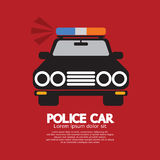 Front View Of Police Car Royalty Free Stock Photos