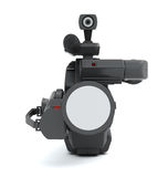 Front view professional video camera on a white Stock Image