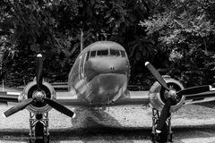 Front view of  an prop plane Stock Photos