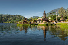 Front view of Pura Ulun Danu temple Stock Photography