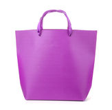 Front view of purple gift bag Stock Images