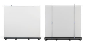 Front view and rear view of the portable screens Royalty Free Stock Images