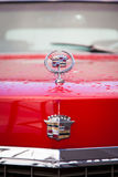 A front view of red cadillac Royalty Free Stock Images