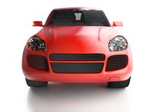 Front view of red crossover Royalty Free Stock Photos