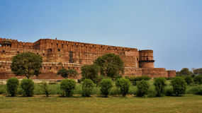 Front view of the Red Fort in Agra, India. Outside view of the Red Fort in Agra, India Royalty Free Stock Images
