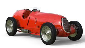 Front view of a red old race car Royalty Free Stock Photography
