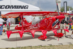 Front view of a Red Oracle airplane Royalty Free Stock Image