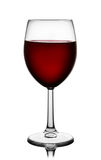 Front view of red wine glass Stock Image