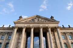 Front view of the Reichstag Royalty Free Stock Image