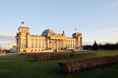 Front view of the Reichstag, Royalty Free Stock Images