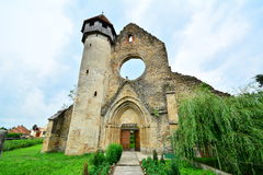 Front view of the remains of a Gothic monastery. Stock Photos