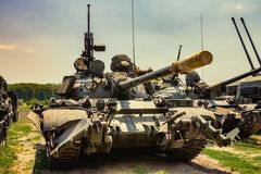 Front view of retro Army Tank royalty free stock photo