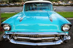 Front view of retro car Stock Photo