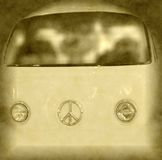 Front view of retro style van Stock Images