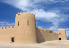A front view of Riffa Fort looking towards NW Royalty Free Stock Photo