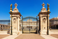 Front view of Royal Palace Gate Stock Photography