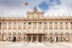 Front view of Royal Palace in Madrid, Spain Stock Image