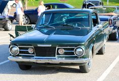 Front View of 1960's Model Plymouth Barracuda Fast Back Stock Photography