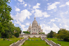Front view of Sacre Coeur Cathedral Stock Images