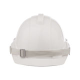 Front view of safety helmet cap isolated white Royalty Free Stock Image