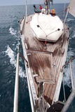 Front view of sailing boat Stock Images