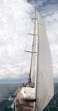 Front view of sailing boat Royalty Free Stock Image