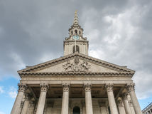 Front view of Saint Martin-in-the-fields church in London Royalty Free Stock Photos