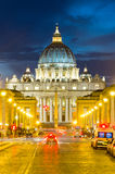 Front View of Saint Peter's Basilica Stock Image