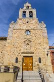 Front view of the San Francisco church of Astorga Stock Image