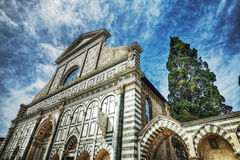 Front view of Santa Maria Novella cathedral Royalty Free Stock Photos