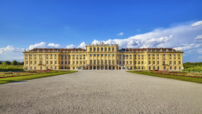Front view of the Schonbrunn Palace. Stock Image