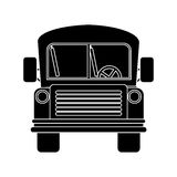 Front view school bus with wheels Stock Images