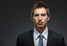 Front view of self-confident business man Stock Photo