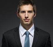 Front view of self-confident businessman Royalty Free Stock Photography