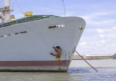 Front view of  a ship. Stock Images