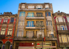 Front view of shophouse in old town Europe Royalty Free Stock Photography