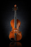 Front view shot of a violin Royalty Free Stock Image