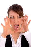 Front view of shouting professional Royalty Free Stock Images