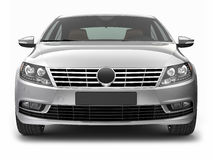 Front view of silver sedan car Royalty Free Stock Images