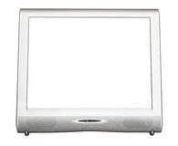 Front view of silver TV set with cut out screen Royalty Free Stock Photo