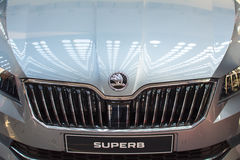 Front view of Skoda Superb car on Belgrade car show, March 20, 2 Stock Photos