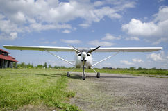 Front view of small plane Royalty Free Stock Photos