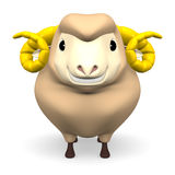Front View Of Smile Brown Sheep Royalty Free Stock Photography