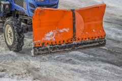 Front View of a Snow Plow Royalty Free Stock Photo