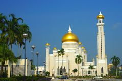 Front view of SOAS Mosque, Brunei Stock Photo