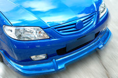 Front view of sportive car Stock Photography