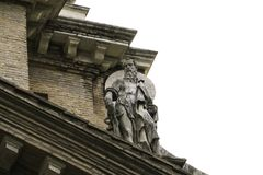 Front view of St Paul statue stock photography