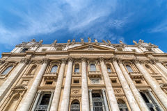 Front view of St Peter& x27;s Basilica in Vatican city Royalty Free Stock Photos