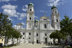 Front View of St. Stephen Cathedral, Passau, Germany Stock Photo