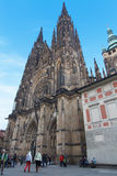 Front view of St. Vitus Cathedral Stock Photography
